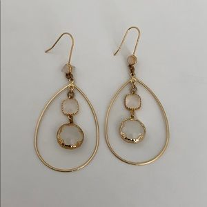 Chandelier Gold and Champagne Earrings